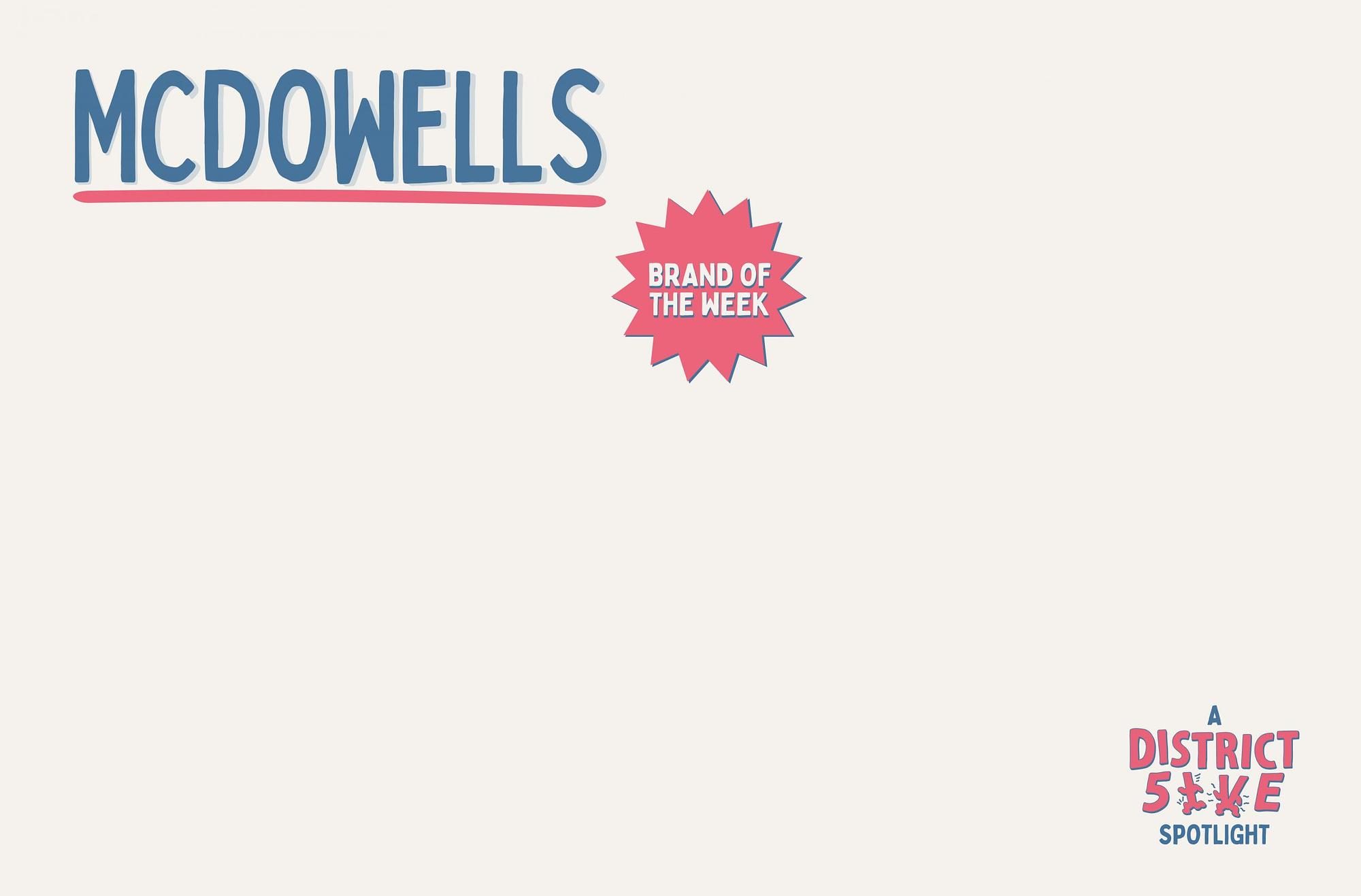 McDowells Streetwear Brand of The Week